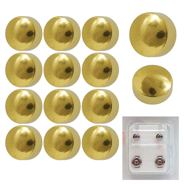 200Y - Traditional Plain Yellow Gold Color Ball Ear Stud Pack of 12