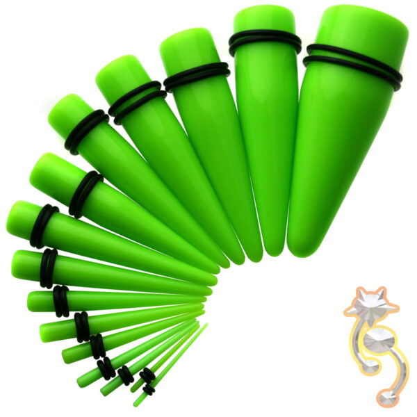 EX1G - Green Color Acrylic Expander Sold as Pair