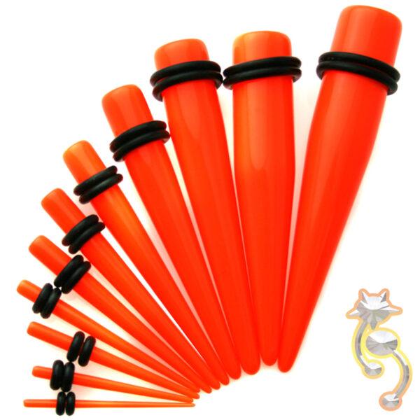 EX1O - Orange Color Acrylic Expander Sold as Pair
