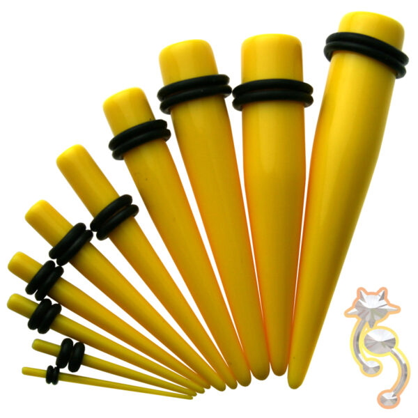 EX1Y - Yellow Color Acrylic Expander Sold as Pair
