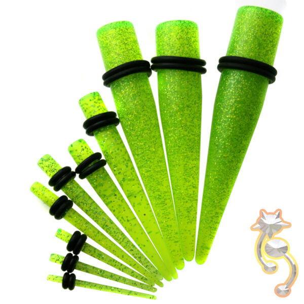 EX2 - (CLOSEOUT) Acrylic Glitter Expander/Taper Oring Sold as Pair