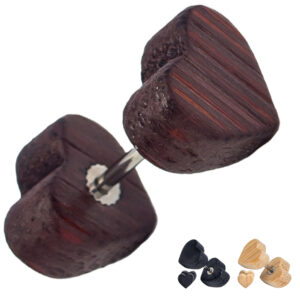 FP33 - Heart Wood Fake Plug Sold as Pair