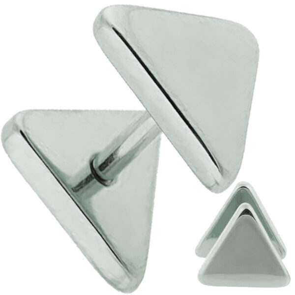 FP38 - Steel Triangle Design Fake Plug Sold as Pair