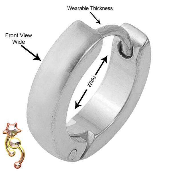 ES01 - Stainless Steel Plain Curved  Design Huggies Sold as Pair
